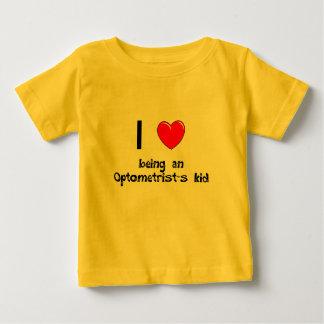 Amo el ser camiseta del niño de un optometrista