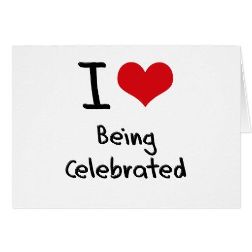 Amo el ser celebrado felicitacion