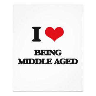 Amo el ser centro envejecido flyer personalizado
