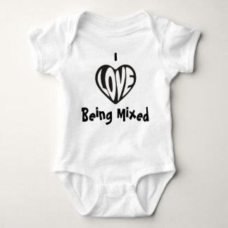 Amo el ser chaleco mezclado del bebé remeras