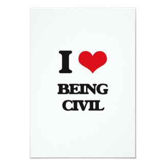 Amo el ser civil invitación 8,9 x 12,7 cm