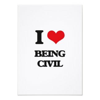 Amo el ser civil invitación 12,7 x 17,8 cm