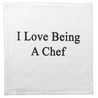 Amo el ser cocinero servilleta de papel