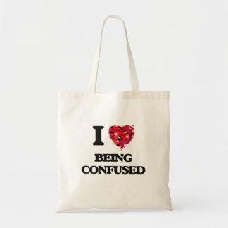 Amo el ser confuso bolsa tela barata