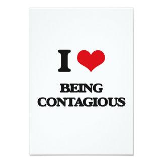 """Amo el ser contagioso invitación 3.5"""" x 5"""""""