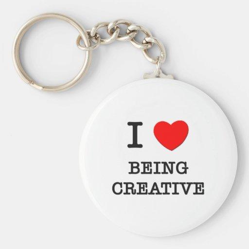 Amo el ser creativo llaveros