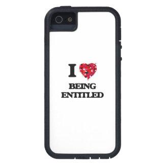 Amo el ser dado derecho iPhone 5 funda