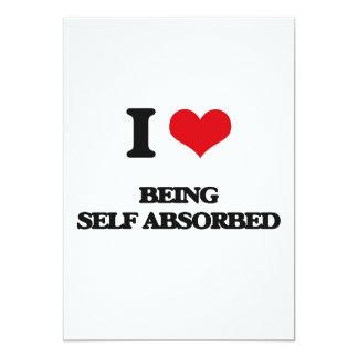 Amo el ser de auto-absorción invitación 12,7 x 17,8 cm