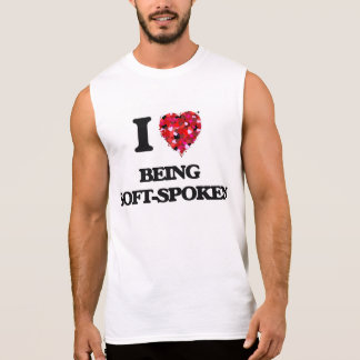 Amo el ser de tono suave camiseta sin mangas