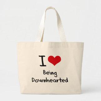 Amo el ser descorazonado bolsas de mano