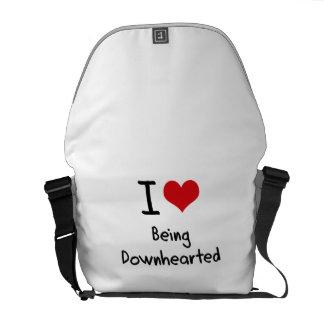 Amo el ser descorazonado bolsas de mensajería