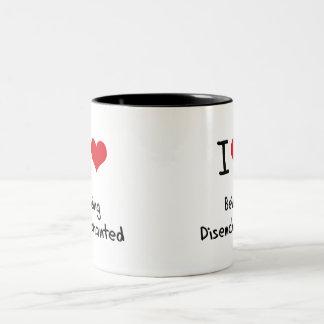 Amo el ser desencantado tazas de café