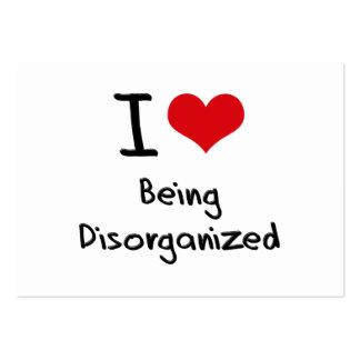 Amo el ser desorganizado tarjeta personal