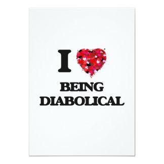 """Amo el ser diabólico invitación 5"""" x 7"""""""