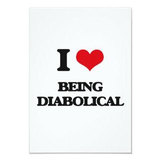 """Amo el ser diabólico invitación 3.5"""" x 5"""""""