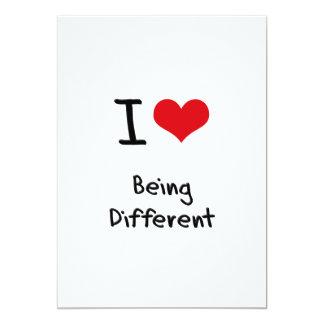 """Amo el ser diferente invitación 5"""" x 7"""""""