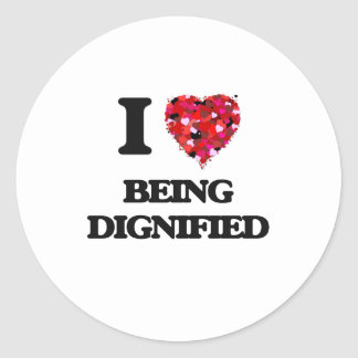 Amo el ser dignificado pegatina redonda
