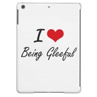 Amo el ser diseño artístico alegre funda para iPad air