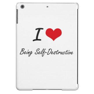 Amo el ser diseño artístico autodestructivo funda para iPad air