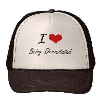 Amo el ser diseño artístico devastado gorras de camionero