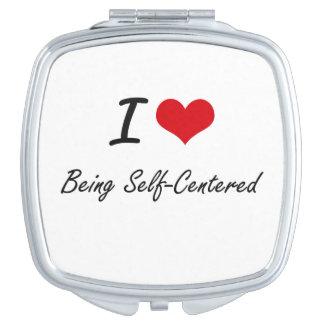 Amo el ser diseño artístico egocéntrico espejos para el bolso