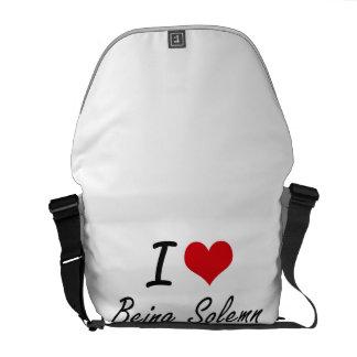 Amo el ser diseño artístico solemne bolsa de mensajeria