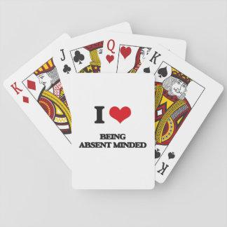 Amo el ser distraído cartas de póquer
