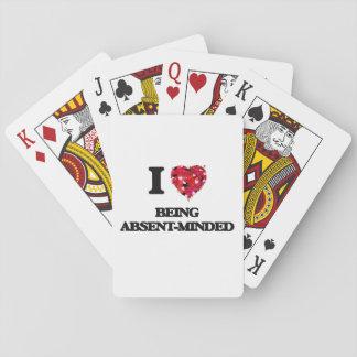 Amo el ser distraído barajas de cartas