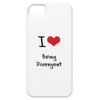 Amo el ser divergente iPhone 5 cobertura