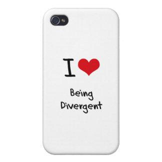Amo el ser divergente iPhone 4 protector