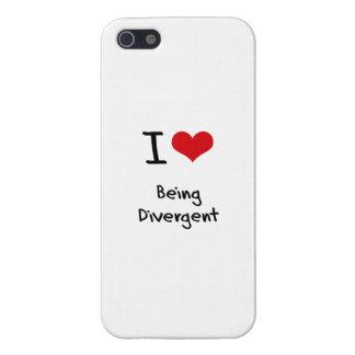 Amo el ser divergente iPhone 5 cárcasa