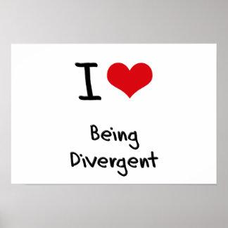 Amo el ser divergente poster