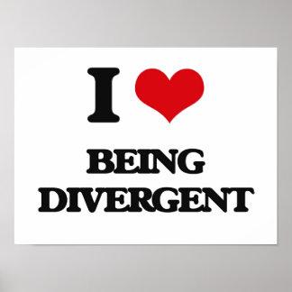 Amo el ser divergente posters