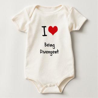 Amo el ser divergente trajes de bebé