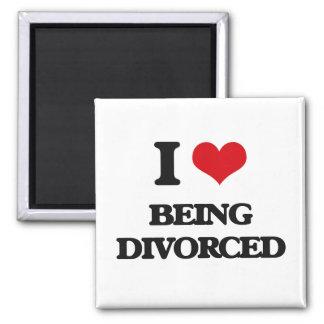 Amo el ser divorciado imán cuadrado