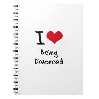 Amo el ser divorciado libros de apuntes con espiral