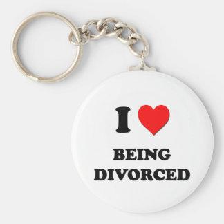 Amo el ser divorciado llavero redondo tipo pin