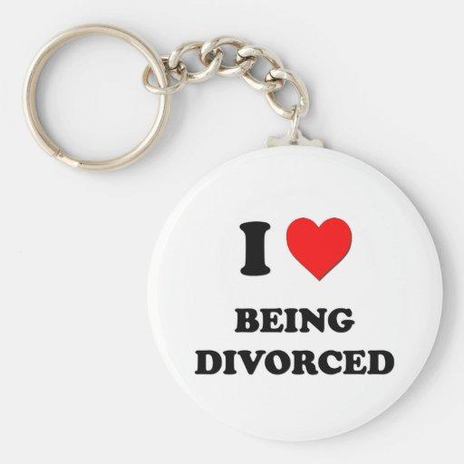 Amo el ser divorciado llaveros