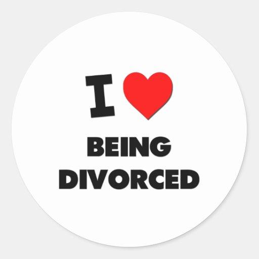 Amo el ser divorciado pegatina redonda