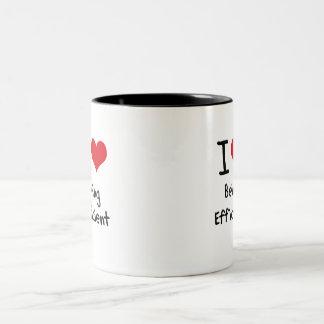Amo el ser eficiente taza dos tonos