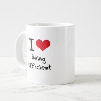 Amo el ser eficiente taza grande