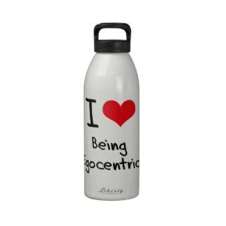 Amo el ser egocéntrico botella de agua
