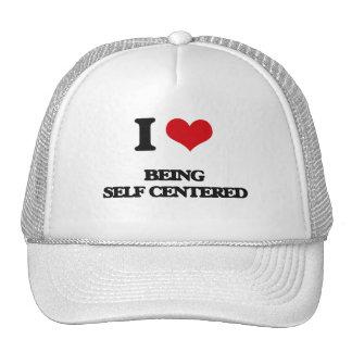 Amo el ser egocéntrico gorros bordados