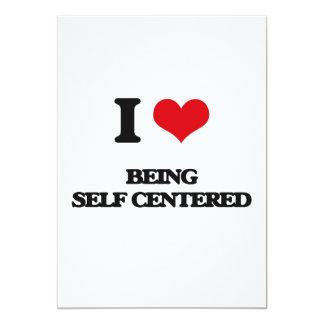 Amo el ser egocéntrico invitación 12,7 x 17,8 cm