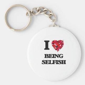 Amo el ser egoísta llavero redondo tipo pin