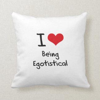 Amo el ser egotista almohadas