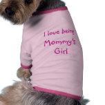 Amo el ser el chica de la mamá camisas de perritos