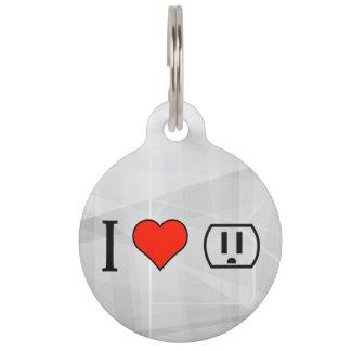 Amo el ser electricista identificador para mascota