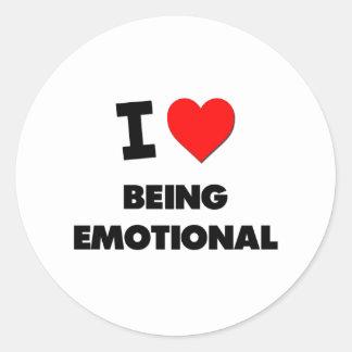 Amo el ser emocional etiqueta redonda