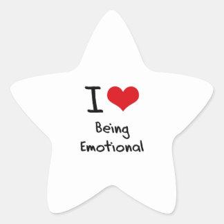 Amo el ser emocional pegatina forma de estrella personalizada